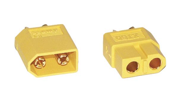 Prise mâle et femelle XT60. 1 paire