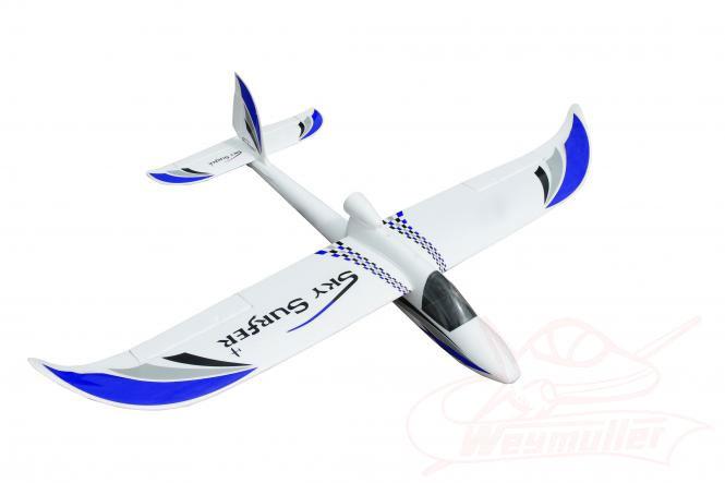 Planeur Sky Surfeur 1,40m PNP. Bleu