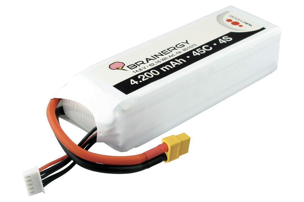 Pack accus 4 éléments 14,8V 4200mA 45C XT60