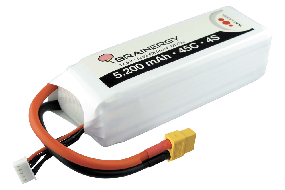 Pack accus 4 éléments 14,8V 5200mA 45C XT60