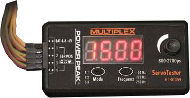 Testeur de servo universel Power Peak Multiplex