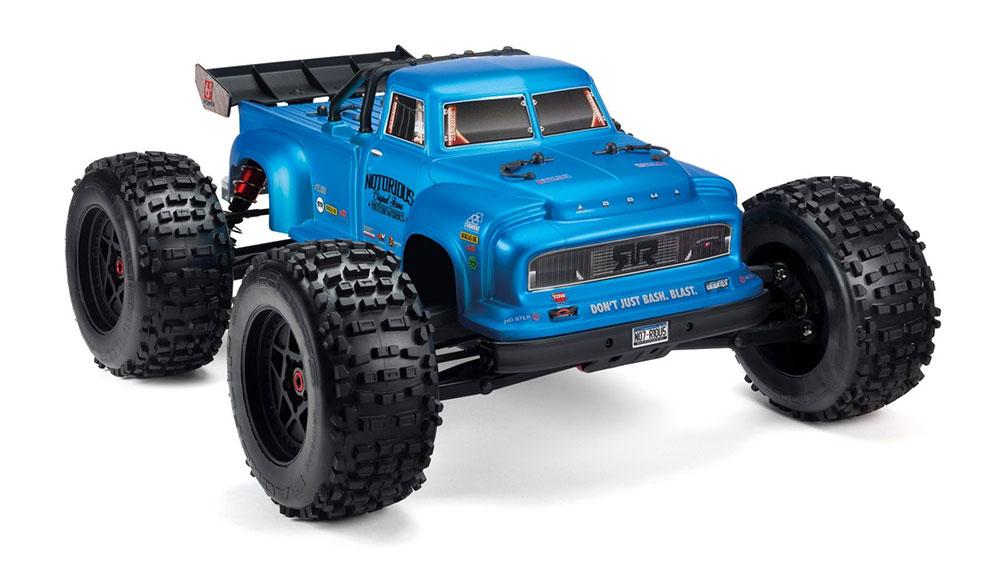 Voiture 1/8 NOTORIOUS 6S V5 4WD BLX V5 Stunt avec Sekptrum Firma RTR, bleu