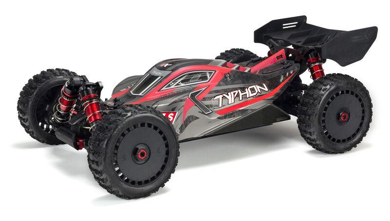 Buggy 1/8 TYPHON 6S V5 4WD BLX avec Spektrum Firma RTR, noir